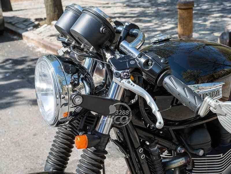 Черный вилка мотоцикла кронштейн, крепление для фары 35 мм ~ 41 мм для Honda Suzuki Kawasaki Yamaha Harley Davidson Ducati BSA...