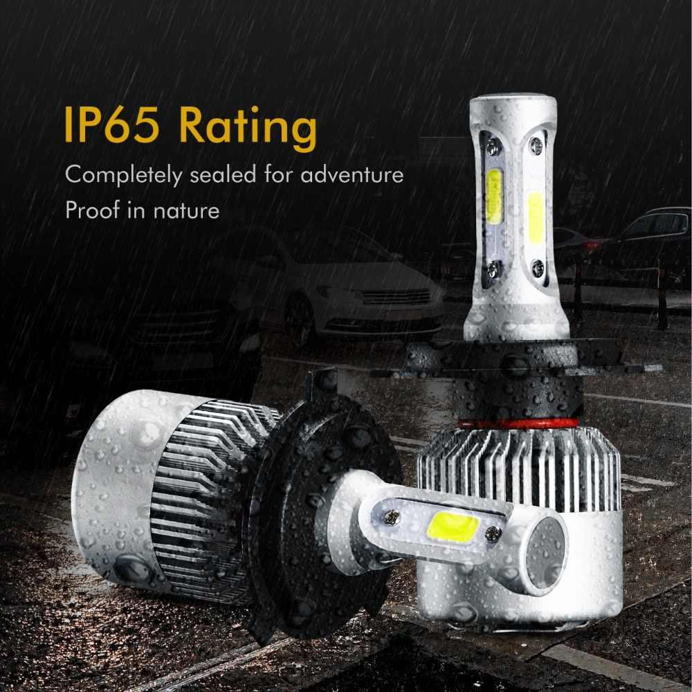 Oslamp H4 H7 H11 9005 9006 H1 COB רכב LED פנס נורות Hi-Lo קרן 72W 8000LM 6500 k/4300 K אוטומטי Led פנס רכב אור 12v 24v