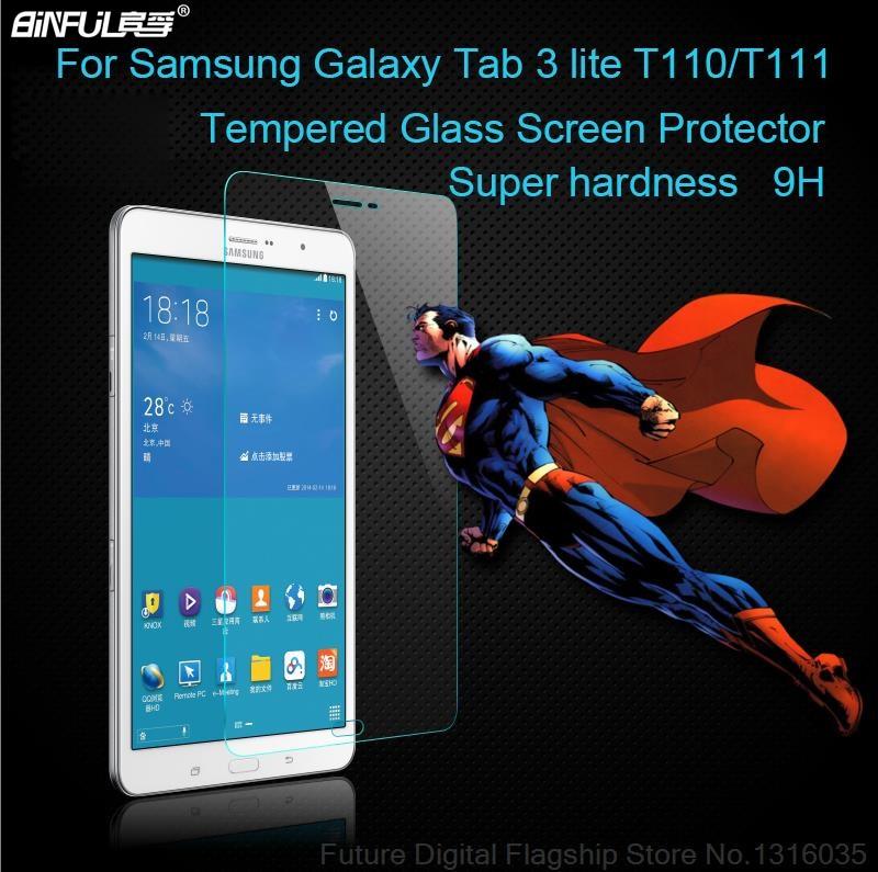 BINFUL Samsung Galaxy skirtukas 3 lite 7.0 T111 T110 T113 T116 Premium grūdinto stiklo apsauginis ekranas