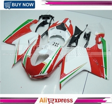 Red White And Green Tri-Color ABS Fairing Kits For Ducati 1098 848 1198 2007-2011 Injection Mold Motorbike Body