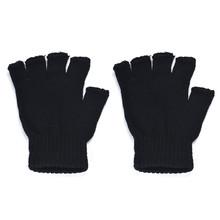 Męskie czarne dzianinowe elastyczne ciepłe pół palcowe rękawiczki bez palców 2019 tanie tanio Dla dorosłych Other Stałe Nadgarstek Moda 5633#789