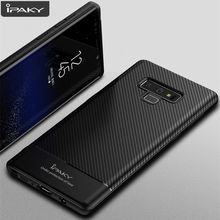 for Samsung Note 9 Case IPAKY 8 S8 S9 S10 Carbon Fiber Skin Hybrid Silicone Shockproof Soft