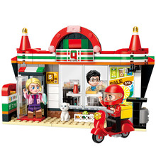 S Model Compatible with E1133 319pcs Convenience Store Models Building Kits Blocks Toys Hobby Hobbies For Boys Girls l model compatible with lego l15014 1858pcs amusement park models building kits blocks toys hobby hobbies for boys girls