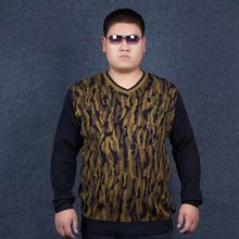 Fat people plus size sweater male gothic Large size sweater fat commercial sweater men plus size paragraph Cashmere sweater 4XL