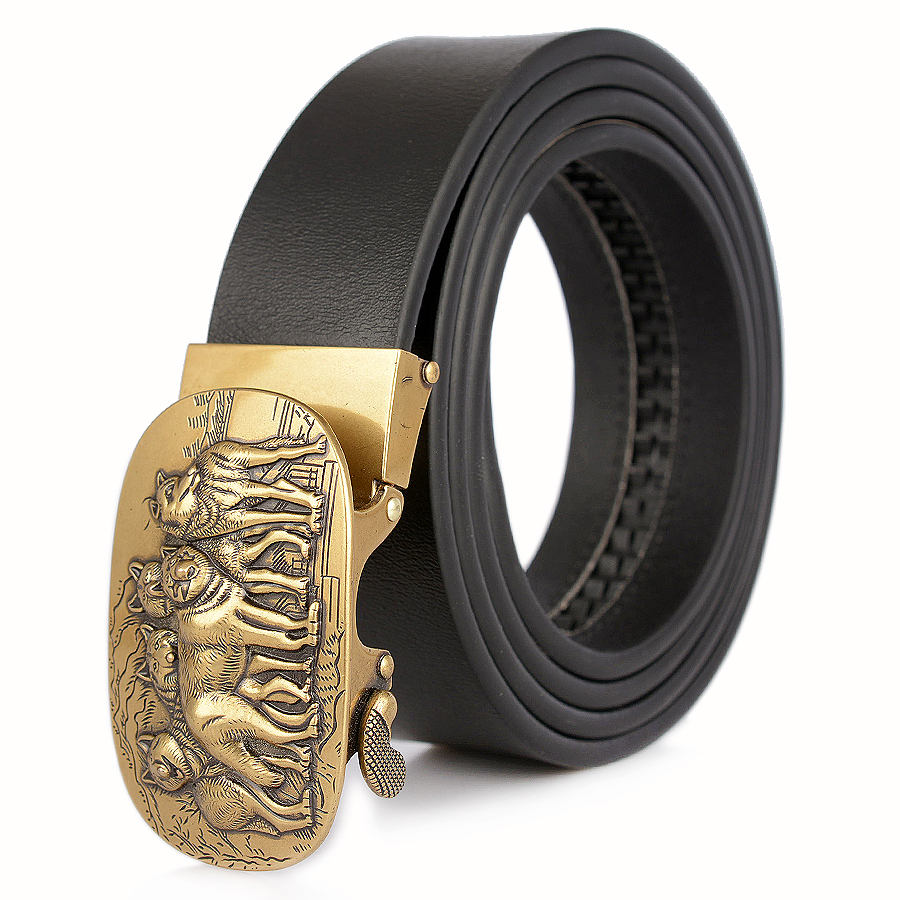 United Zld Mens Chinese Dragon Automatic Buckle Luxury Brand Male Genuine Leather Strap Belts For Men Top Quality Belt Cummerbunds Apparel Accessories