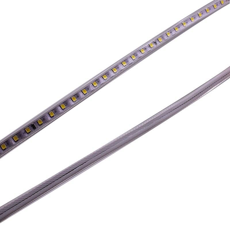 220VAC Светодиодная лента 2835 100 светодиодов/м IP67 водонепроницаемая с адаптером питания гибкая светодиодная лента наружная 50 м/рулоны, 100 м/руло... - 4