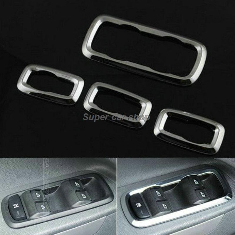ABS chrome trim Window lift switch decoration box refires regulator panel cover for Ford ecosport fiesta 2013