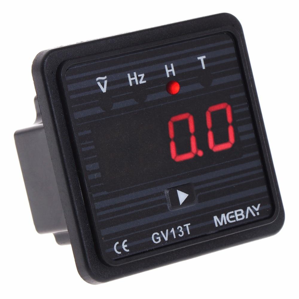 V13T AC 220V Diesel Generator Digital Voltmeter Frequency Hour Test Panel Meter Tester Tools