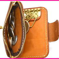 DIY leather craft zipper snap button coin bag key ring wallet knife mould die cutting set hand punch