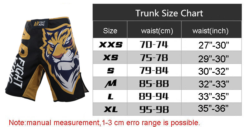New Design Tigre MMA Shorts de Treino