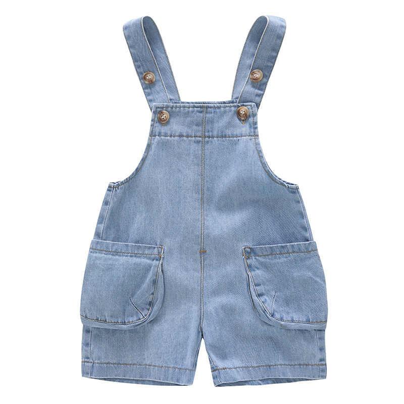 2019 กางเกงเด็กฤดูร้อนเด็กแรกเกิดเด็ก Overalls เด็กวัยหัดเดินกางเกงกระเป๋าขนาดใหญ่เด็ก Jumpsuit กางเกงกางเกง LZ123