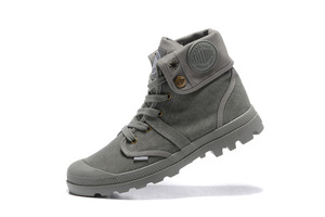 Image 5 - PALLADIUM Pallabrouse All Grey Sneakers Men High top Military Ankle Boots Canvas Casual Shoes Men Casual Shoes Eur Size 39 45