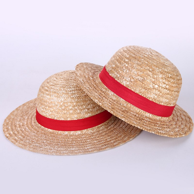 2019 New One Piece Luffy Anime Cosplay Canotier Plage Chapeau Man woman Halloween hat(China)