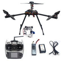 DIY RC Drone Assembled Full RFT Kit HMF Y600 Tricopter 3-Axle with APM2.8 GPS Gimbal AT9S Transmitter RX Aircraft F10811-A