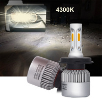 YHKOMS Car Headlight H4 LED 4300K H7 H11 LED H1 H3 H8 H9 9005 9006 880 881 9004 9007 H13 5202 H16 LED Lamp Auto Fog Light 8000LM