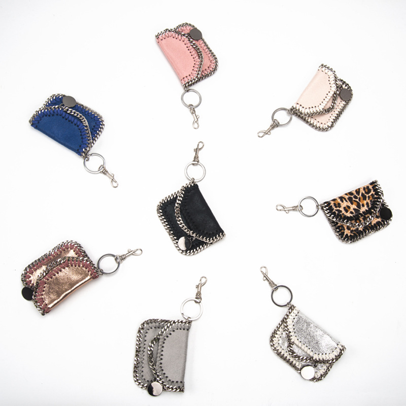 Women Bag Accessories Pendant Mini Cute Keychain Heart Shaped Handbag Diy Parts PVC Leather Zero Purse For Bags Wholesale
