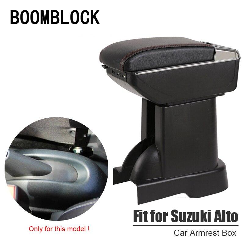 Auto Voiture Accoudoir Boîte Modifié Pour Suzuki Alto 2014 2015 2016 2017 Aruto USB Chargeur Porte-Gobelet Cendrier Organisateurs Accessoires