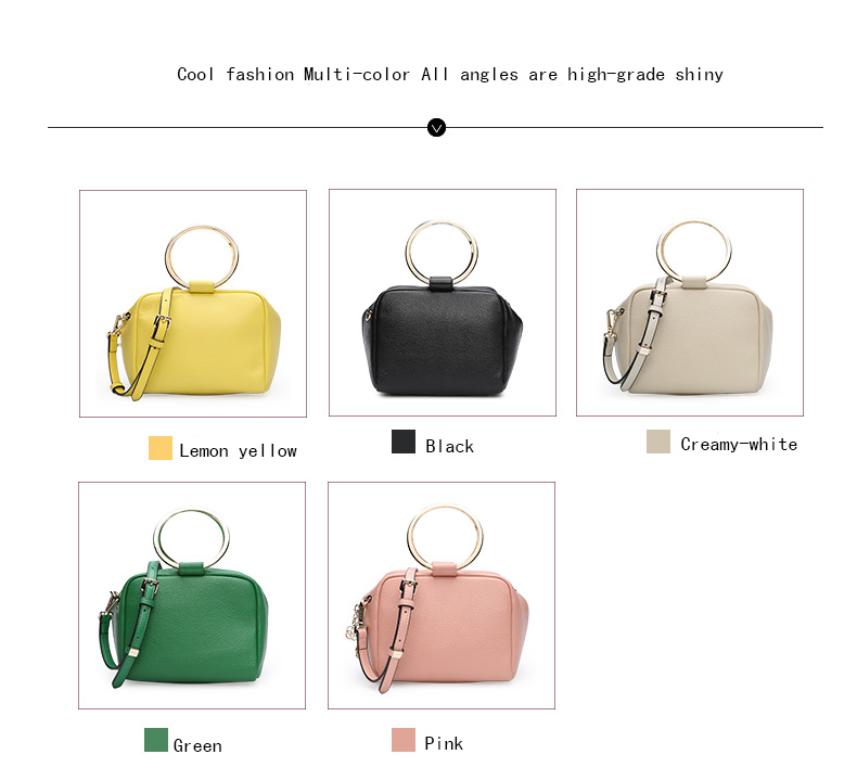 HONGU Luxury Cow Leather Handbags Women Bags Brands Ring Evening Purses Lady Mini Crossbody Shoulder Bags Female Messenger Totes     H5140080992 (5)