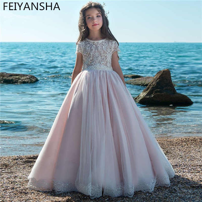 NEW Flower Girl Dresses For Weddings 2019 Newest Vestidos Daminha Kids Evening Pageant Gowns First Communion Dresses For Girls