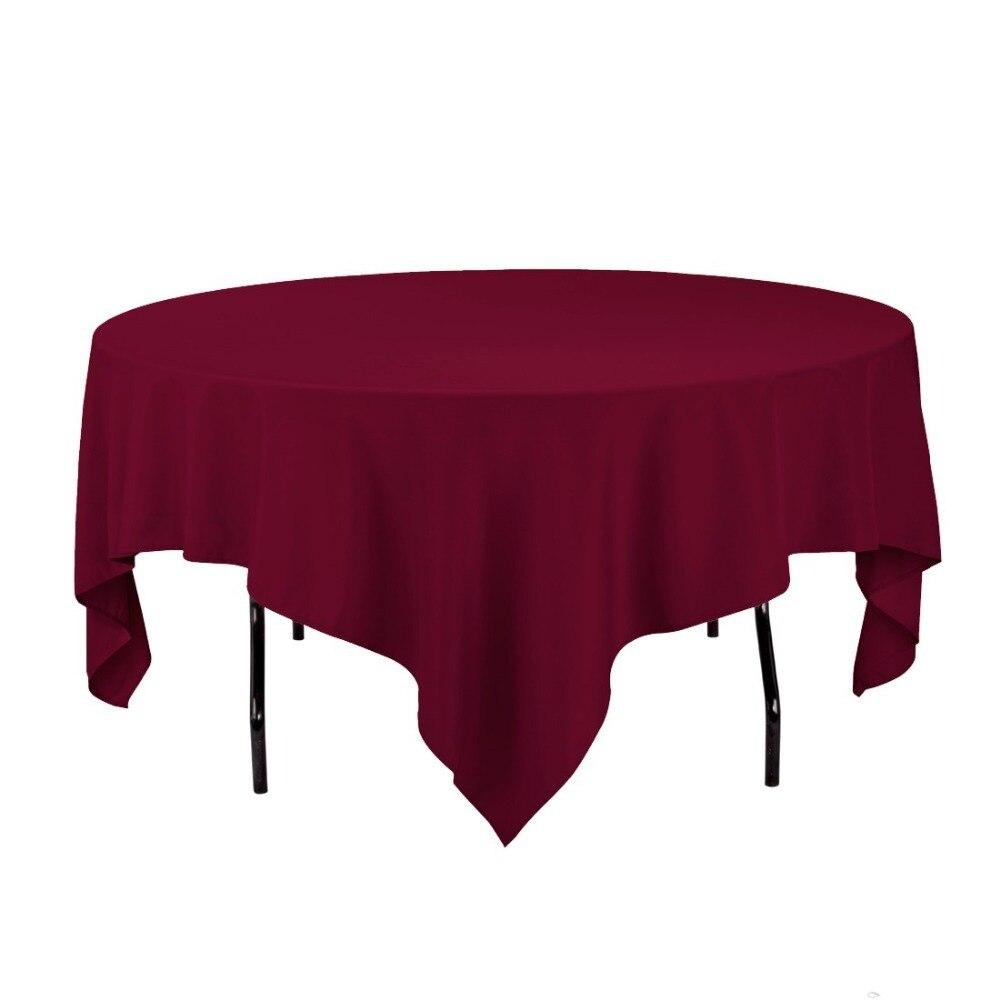 Hk Dhl Noda Merasa 85 Inch 216 Cm Burgundy Polyester Persegi Kopi Bubuk Hitam Kapal Api Tanpa Gula 10x6 5 Gram Taplak Meja Untuk Pernikahan Pack
