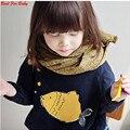 Cute Baby Kid Meninas Meninos Pullover Sweater Brasão Causal Roupas Outfit
