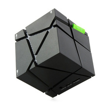 Qone LED Creative Portable cube type Bluetooth Speaker Black