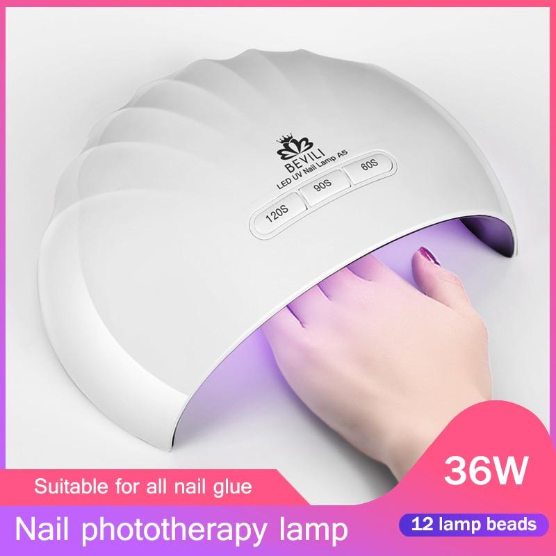 Nails Art & Werkzeuge 36 Watt Nagel Trockner Lampe 12 Leds Für Alle Gele Maniküre Shell Form Nail Art Usb Lade Sswell Ein Unbestimmt Neues Erscheinungsbild GewäHrleisten