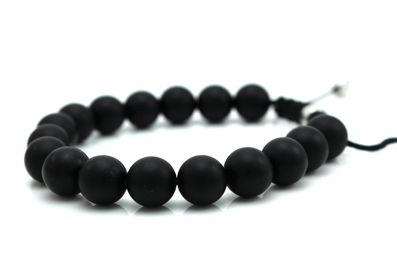 Shamballa Jewelry Black Matte Stone Bracelets For Women Men 10mm Bead Bracelet Pulseiras Masculino In Charm From