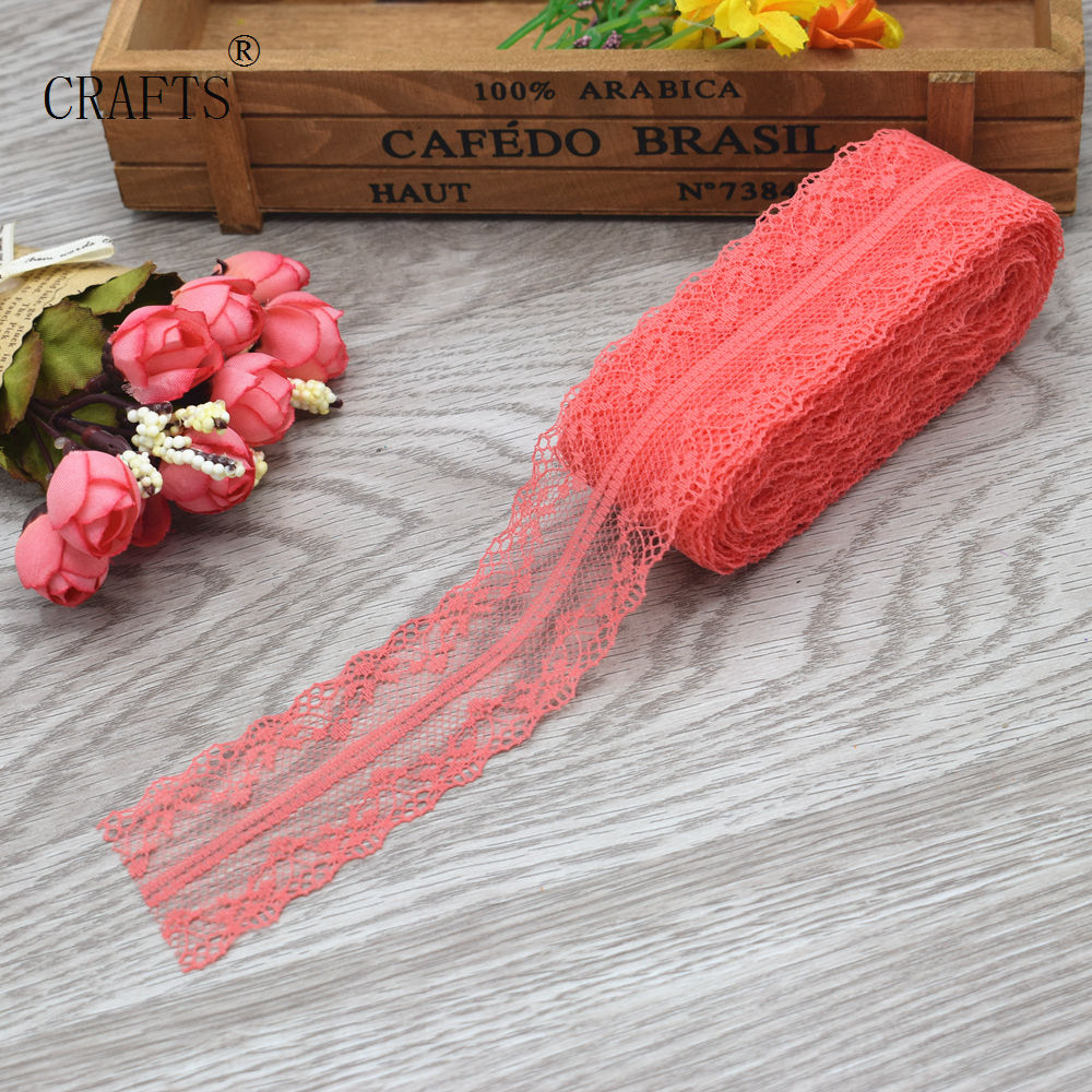 HTB1RGyPiL1TBuNjy0Fjq6yjyXXai New! 10 yards beautiful lace ribbon, 3.8 cm wide, DIY decoration accessories, holiday decorations