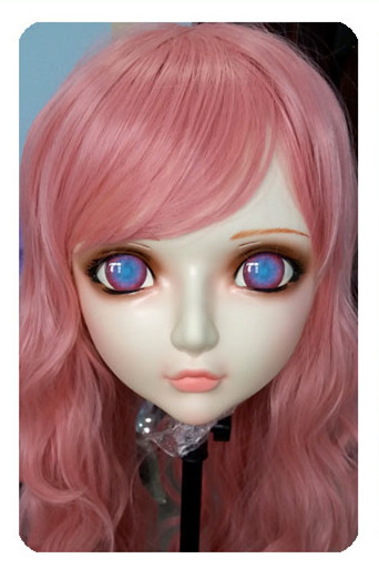 dm031 Women/girl Sweet Resin Half Head Kigurumi Bjd Mask Cosplay Japanese Anime Lifelike Lolita Mask Crossdressing Sex Doll Selected Material Novelty & Special Use