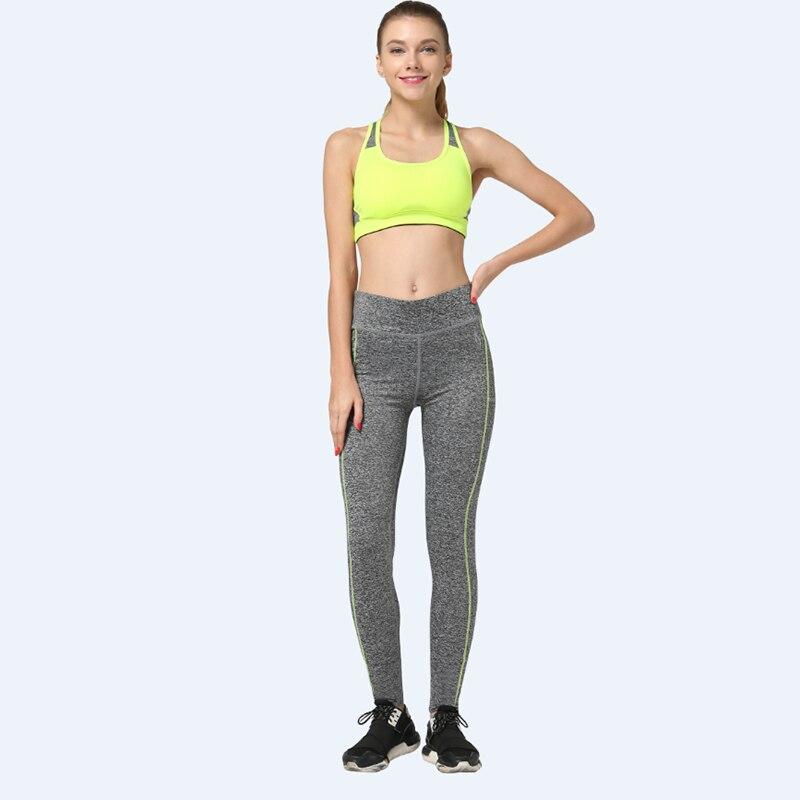 f5a7178975 Mulheres Sexy Leggings Esportivos Treino de Yoga Calças de Fitness  Exercício de Corrida Calça Elástica LNSYL