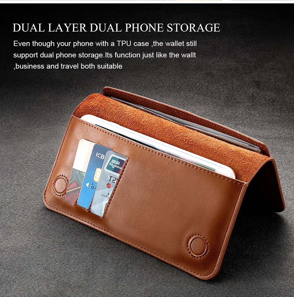 FLOVEME Genuine Leather Wallet Case For iPhone 6 6S 7 Plus Cover Multi-function Vintage Luxury Phone Pouch For Samsung S6 S7 (9)