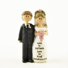 Decoración de la boda accesorios de la torta de la novia y el novio figurillas del matrimonio de la ceremonia del regalo de la vendimia de la decoración del hogar