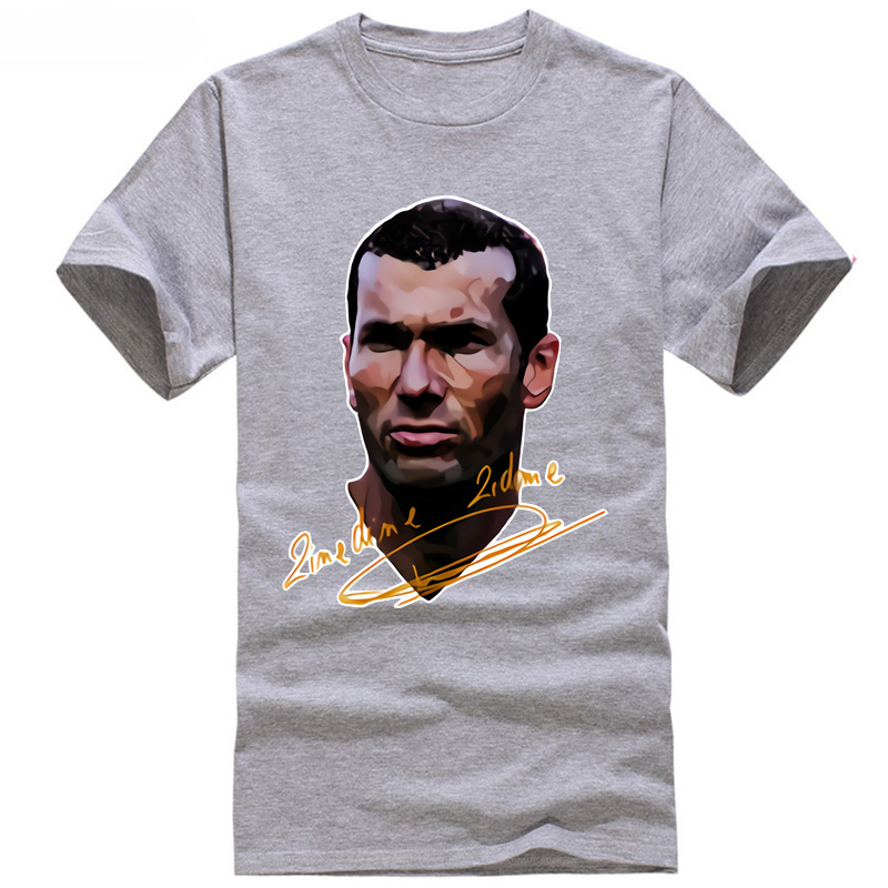 2018 footballer europe champions cup good Madrid zinedine coacher trainer league t shirt hot new