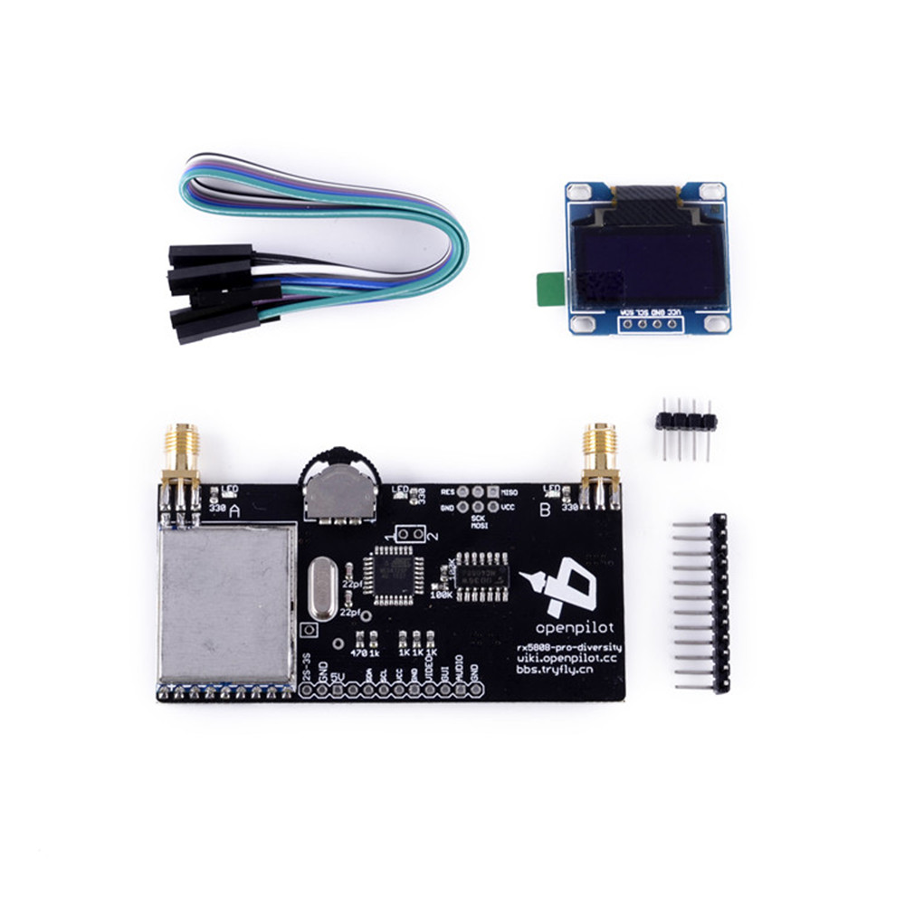 ФОТО FPV RX5808 Pro Receiver 5.8G 40CH Diversity OLED Display for fatshark antenna Racing drone switch siginal between 2 receivers