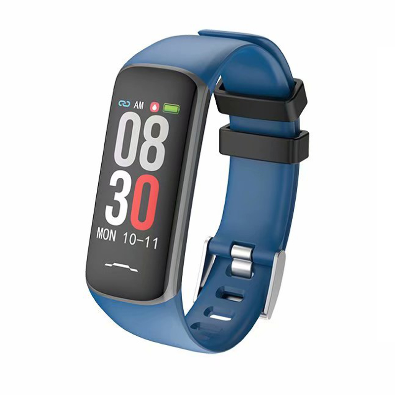 ea96cb209348 Nueva pulsera inteligente 2019 B2 Monitor de presión arterial Monitor de  actividad física Correa ...