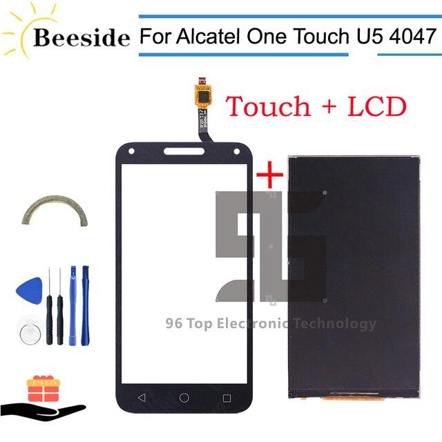 AA + Qualität LCD 5,0 Für Alcatel One Touch U5 3G 4047 4047D LCD Display Touchscreen Digitizer ersetzen Schwarz/Weiß