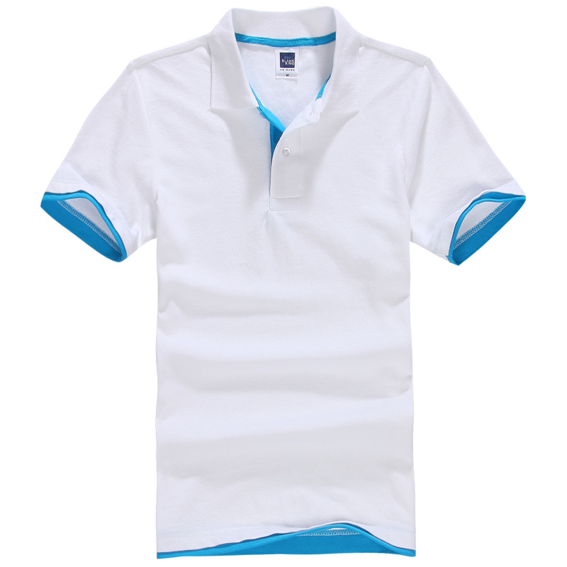 2017 Summer New Men's Boutique Breathable Top Cotton   Polo   Shirt Lapel Men's Brand   Polo   Shirt Size M-XXL