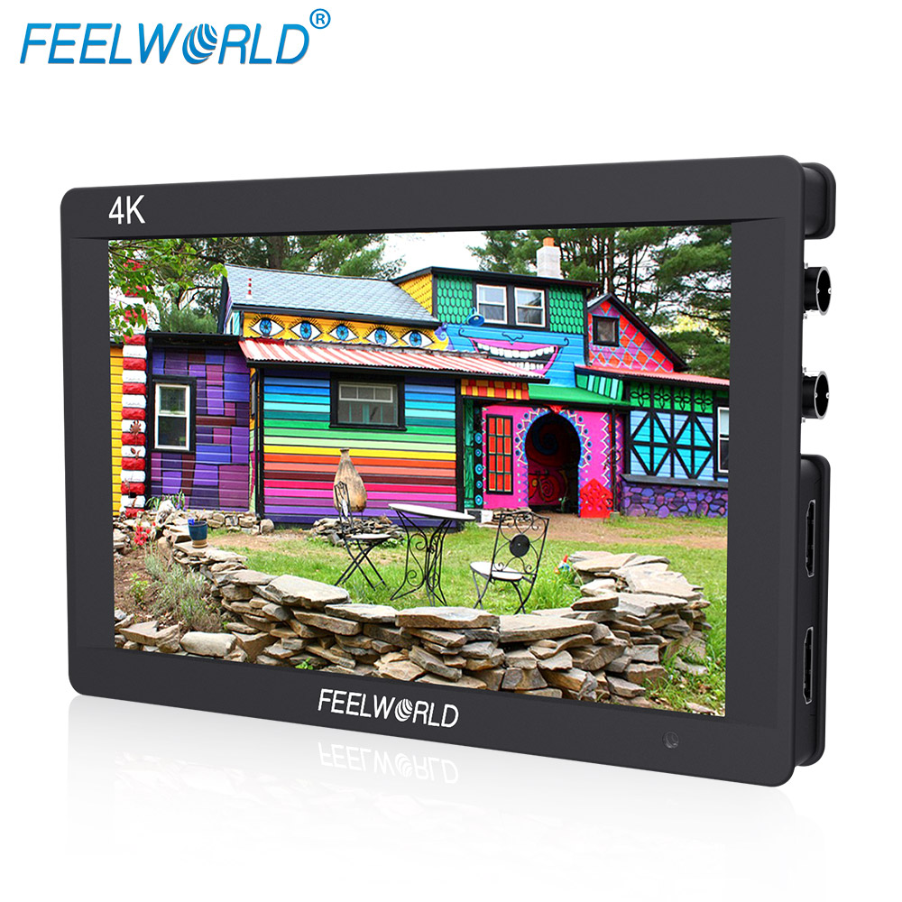 Feelworld F7S 7 Inch 3G-SDI HDMI Monitor 7 IPS 4K 1920x1200 Full HD Camera Field Monitor with Histogram Peaking Focus Zebra