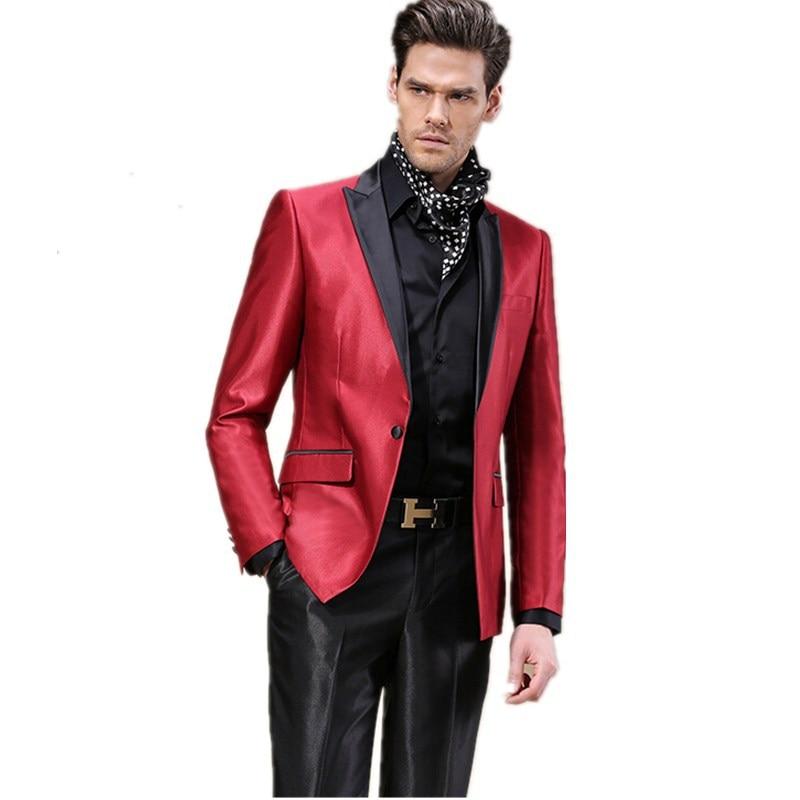 Men\'s groom tuxedo business suits gentleman pure color white ...