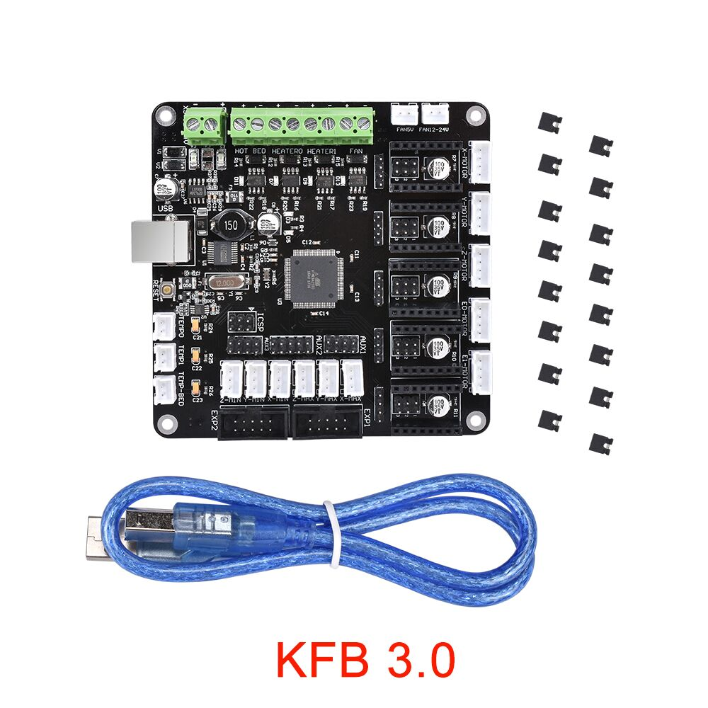 цена на KFB 3.0 Controller Board 12V Support For A4988/DRV8825/TMC2100/TMC2130 For Reprap Mendel Prusa For 3D Printer Parts