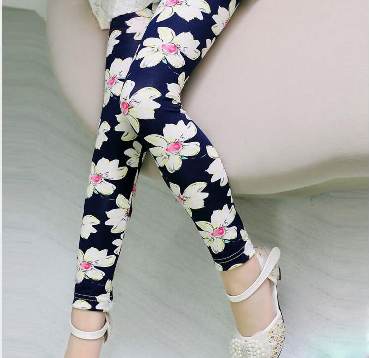 Veenibear Summer Classic Flower Girl Pants Elastic Smooth -4032