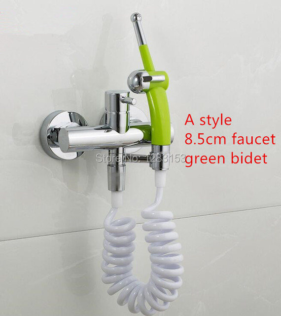 High Quality Brass Spray Gun Toilet Flush Mix Bidet Faucet Bath Tub Shower Holder
