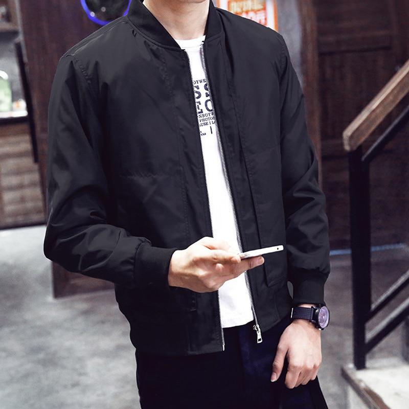 2019 봄 한국 새로운 남성 얇은 재킷 캐주얼 재킷 칼라 청소년 야구 남자의 순수한 자기 재배 코트 힙합 재킷