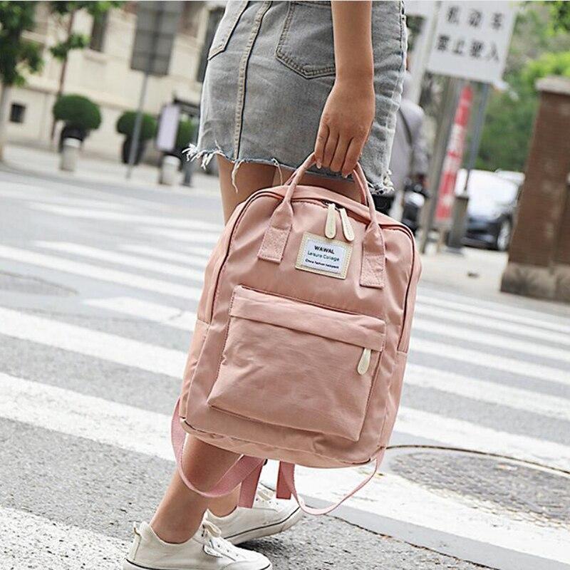 HTB1RH.9Kh1YBuNjy1zcq6zNcXXas Yogodlns Campus Women Backpack School Bag for Teenagers College Canvas Female Bagpack 15inch Laptop Back Packs Bolsas Mochila