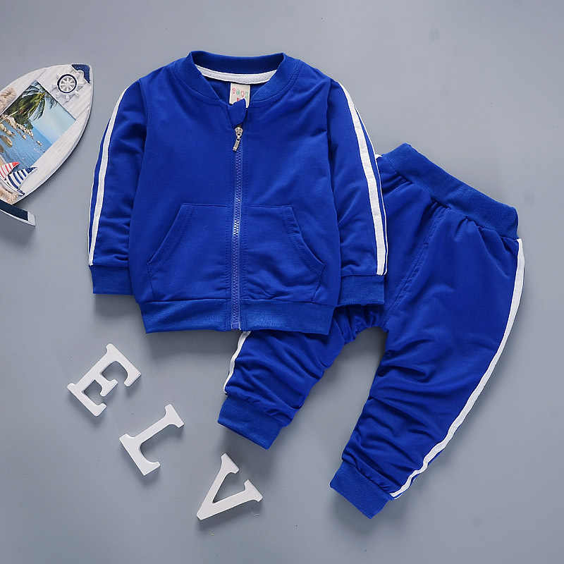 Boys Clothes 2018 Casual Children Clothing Set Spring Autumn Zipper Leisure Sports Suit Jacket + Pants Kids Bebes Jogging Suits