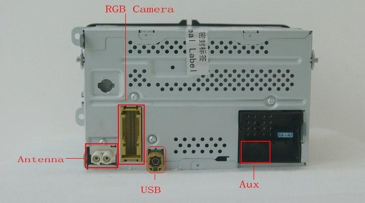 RCD510 back ports