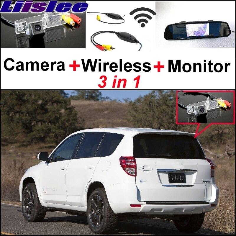 Liislee spécial caméra de recul + récepteur sans fil + rétroviseur moniteur système de stationnement pour TOYOTA Vanguard RAV4 RAV-4 RAV 4 XA30
