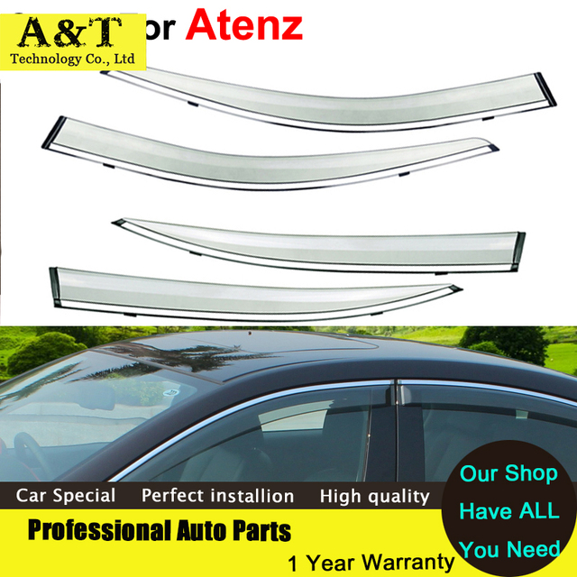 AUTO PRO Windows visor car styling Awnings Shelters Vent Rain Sun Shield Window Visor For Mazda Atenza 2013 2014 2015 Covers Car