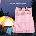 TOMSHOO Ultra-light Portable Double Sleeping Bag Liner Polyester Pongee Healthy Outdoor Camping Travel 160 * 210cm 3 Color
